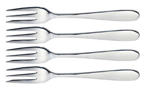 4 x MasterClass Stainless Steel Pastry Cake Dessert Forks Set Dining Cutlery New