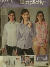S0648 Simplicity Women's Sewing Patterns For Sizes 6-14 For Shirts