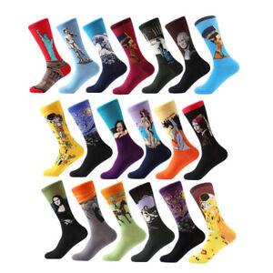 Mens Cotton Socks Novelty Starry Night Art World Famous Oil Painting Unisex Sock