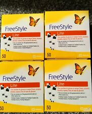 4 x Freestyle Lite Diabetic Blood Glucose Testing Strips 200/strips Exp 01/2020