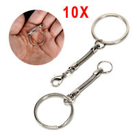 10X Snake Chain Key Rings Silver DIY Jewelry Findings Craft Jewelry Accessory_ti
