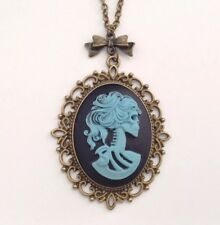 Gothic necklace Day of the Dead jewellery Skeleton pendant Goth girl gift