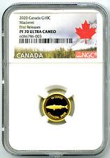 2020 Canada G10C .9999 Gold Proof Ngc Pf70 Ucam Alex Colville 1967 Mackerel Pop9