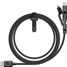 Nomad 4.9' USB to-Micro USB, Lightning, USB Type C Device Cable - Black - VG