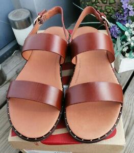 Fitflop Women's Stud Barra 'Brown' Ankle Strap Sandals - Size UK6.5/EU 40