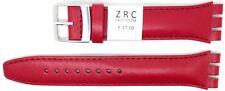 Nuevo ZRC 19 mm (22 MM) Reloj Correa De Cuero Compatible Para Swatch ® Rojo ZL6431905