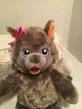 """Violet the Wolf Plush 16"""" Pink Bow Great Wolf Kids from Great Wolf Lodge Fiesta"""