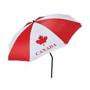 "59"" CANADA BEACH UMBRELLA WITH TILT RED/WHITE"
