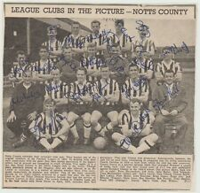 NOTTS COUNTY 1961-1962 RARE ORIG FULLY HAND SIGNED TEAM GROUP X 20 SIGNATURES