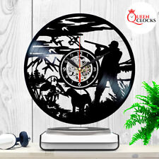 Duck Hunting Clock Cool Vinyl Record Wall Art Theme Decor Bird Hunter Gifts Dad