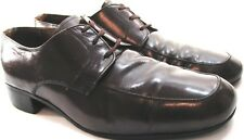 Manhattan Men Leather Oxford Shoes Size 10 Euro 43 Brown Style 6235 Leather
