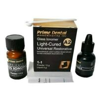 Glass Ionomer Light Cure universal restorative Dental cement. Permanent Cement