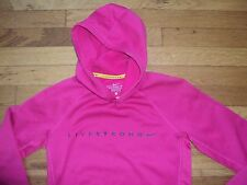 LIVE STRONG LANCE ARMSTRONG CANCER CAMPAIGN NIKE GOLD YELLOW PINK HOODIE THERMA