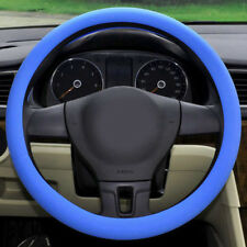 Blue Soft Silicone Car Auto Steering Wheel Cover Shell Skidproof Odorless Useful