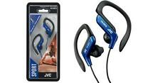 JVC Sports Splash Proof Sweat Proof Blue Earhook Stereo Earbuds 16-20K Hz