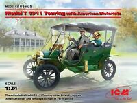 ICM 24025 - 1/24 Model T 1911 Touring with American Motorists , scale model kit