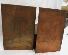 1880 era (2) copper ART printing etched plates / blocks NUDES for book pages old