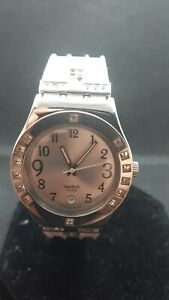 "Swatch Watch Irony  YLS430 "" Fancy me "" Ladies crystals 2006 Vintage"
