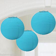 3 Classic BLUE Wedding Birthday Party Round Paper Ball Lanterns Decorations