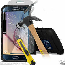 Shockproof Heavy Duty Double Layer Phone Case✔Glass Screen Protector for Samsung