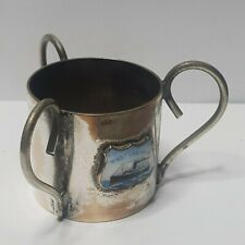 Anchor line tss Tuscania three handled silver plated mug cup H40*W40mm