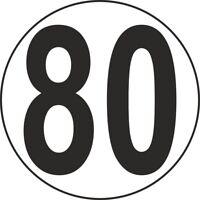 Autocollant sticker macaron tracteur disque limitation vitesse camion 80 km/h