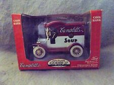 DIE-CAST COIN BANK/CAMPBELLS'S SOUP/1912 MODEL T FORD/COLLECTOR'S SERIES