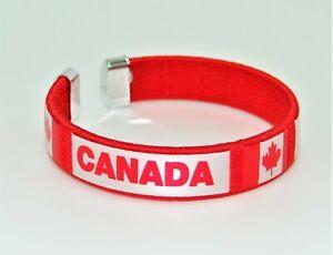 "Country & Team Flag C Bracelet Wristband Adjustable - Adult - 2.5"" Diameter -New"
