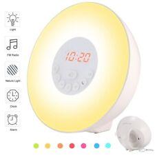 Wake Up Light Alarm Clock -Sunrise Simulation Alarm Clock with Snooze, Multi