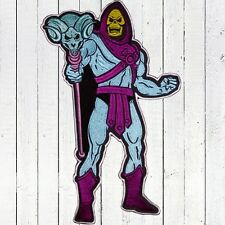 Skeletor with Staff Embroidered Patch Big He-man MOTU Comic Masters of Universe
