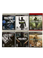Ps3 Lot Of 6 Games Call Of Duty 4 Modern Warfare Mw2 Mw3 Ghosts Black Ops 1 & 2