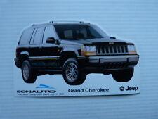 ancien autocollant auto : grand cherokee JEEP