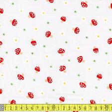 QUILT GATE tissu Tick Tack Champignon Crème par Mètre Japon Import japonais Mushr