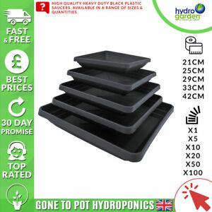 Hydrogarden - Square Saucers- 21 / 25 / 29 / 33 / 42 cm - Grow Room -Hydroponics
