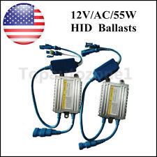 2pcs AC Quick Start Fast Bright slim HID Digital Ballast 55W 12V Replacement US