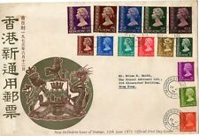 Hong Kong 12 June 1973 QEII definitive First Day Cover to $20