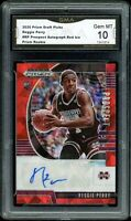 2020 Prizm Draft Picks Red Ice Prizm Autograph Auto Reggie Perry RC GMA 10 PSA ?