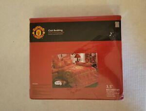 Manchester United Club Bedding Twin 3pc Sheet Set Tulip Bedding 3.5'