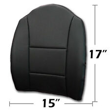 "BIG SIZE 15""X17"" S.LEATHER LUMBAR SUPPORT BACK CUSHION FOR ALL PURPOSE BLACK"
