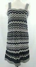 Missoni Target Black White Striped Sleeveless Thin Sweater Sheath Dress Medium