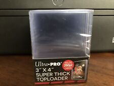 Ultra Pro 3X4 Super Thick Toploaders 1 Pack of 10 for up to 260pt Cards