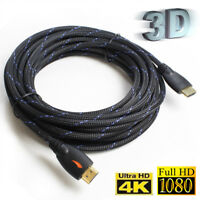PREMIUM HDMI CABLE 50FT 1.4 1080P 4K BLURAY 3D PS4 LCD LED ETHERNET UHD 25ft LOT