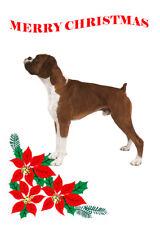 BOXER DOG SINGLE DOG PRINT GREETING CHRISTMAS CARD