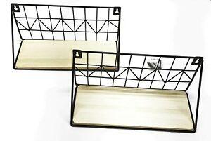 Mkono Floating Wall Mounted Beige/Light Brown Small Shelf Set JJBGTJ001 NOS