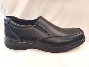 Mens SLIP ON  Shoes Mens Work Shoes Mens Comfort Shoes Mens Casual Shoes Black