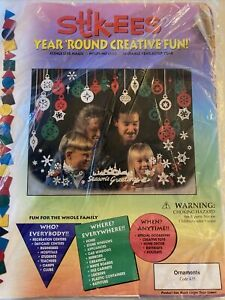 NEW! Vintage STIK-EEZ Window Clings Seasonal Decals Christmas Ornaments