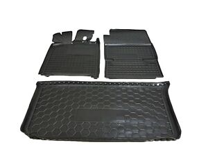 All Weather Car Floor Mats & Cargo Liner Boot Mat fit Smart Fortwo 451 2007-2012