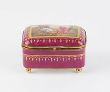 Royal Vienna Porcelain Jewelry Box- Handpainted-  signed C. Heer