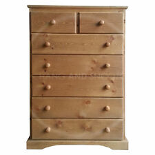 HAND MADE BALTIC 2+5 DRAWER CHEST SOLID PINE OAK WAX(ASSEMBLED)
