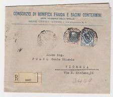 FRANCOBOLLI 1927 REGNO C.50 + L. 1,25 SU RACCOMANDATA UDINE 10/12 Z/6426